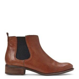 Nine West • Jara Brown Leather Chelsea Booties